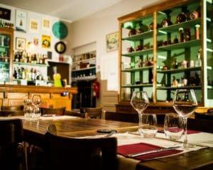 Le Bar de l'hôtel restaurant La Marbrerie à Caunes Minervois