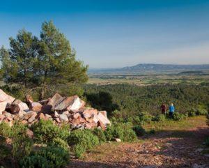 randonnée proche Carcassonne dans la garrigue de Caunes Minervois