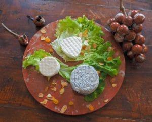 L'assiette de fromages de chèvre, produits locaux