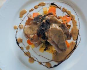 L'assiette de filet mignon aux truffes, repas gastronomique au restaurant La Table de Terroir