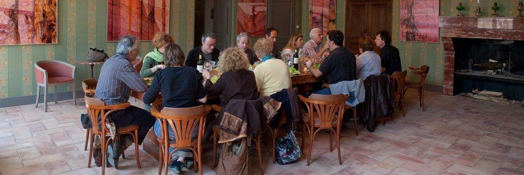 repas groupe au restaurant La Marbrerie