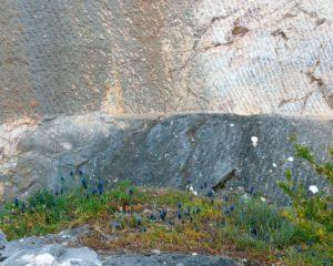 ancienne carriere de marbre gris à Caunes Minervois