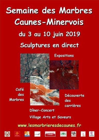 L'événement semaine des marbres à Caunes Minervois
